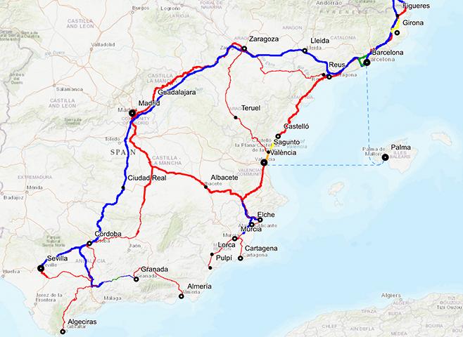 Ya es posible conocer el avance de las obras con el Mapa Cartográfico del Corredor Mediterráneo